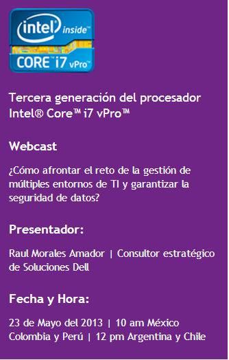Webcast dell 22mayo2013