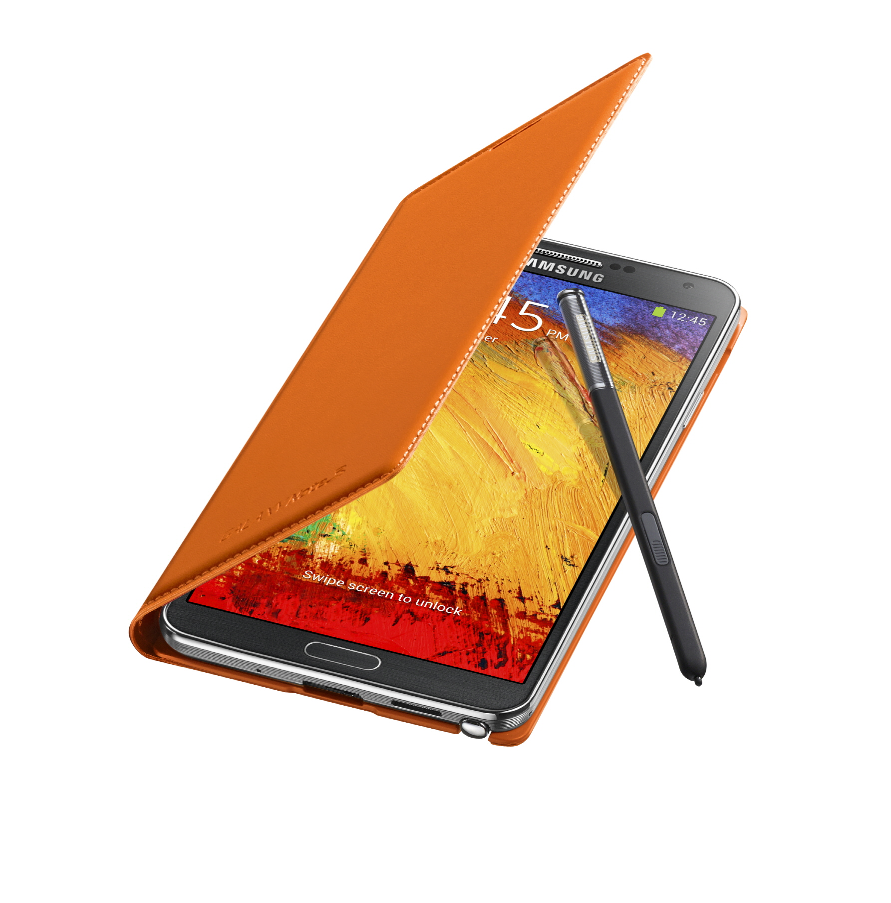 Galaxy Note3 FlipCover 004 Open Pen Wild Orange