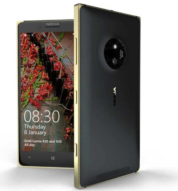 Lumia 830 golden
