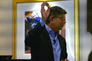 Anand holding chip