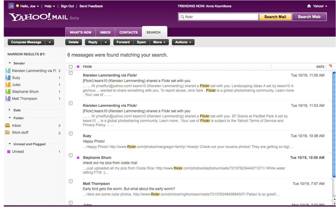 Yahoo-Mail-Beta-Search-Refinement-Tool
