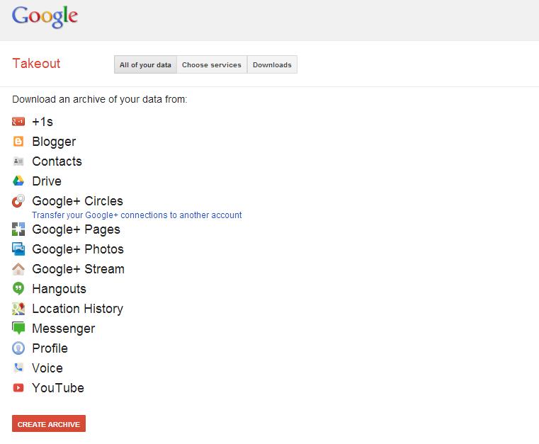 Con Google Takeout puedes liberar toda tu información que tienes en Google