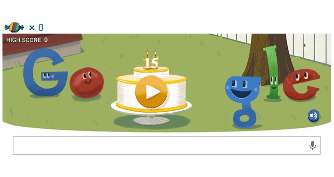 Google Doodle 15 Aniversario