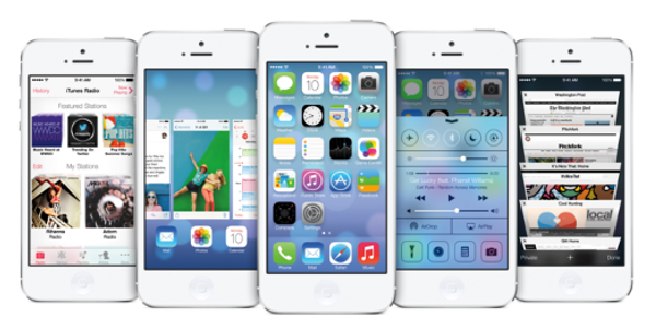 iPhones with iOS7
