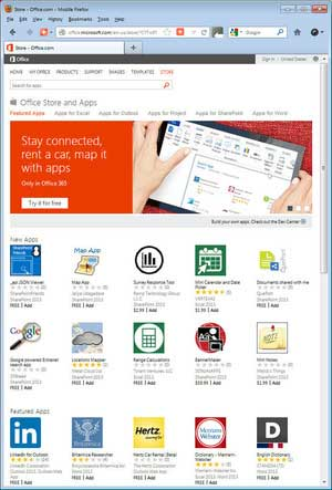 Office365 apps store