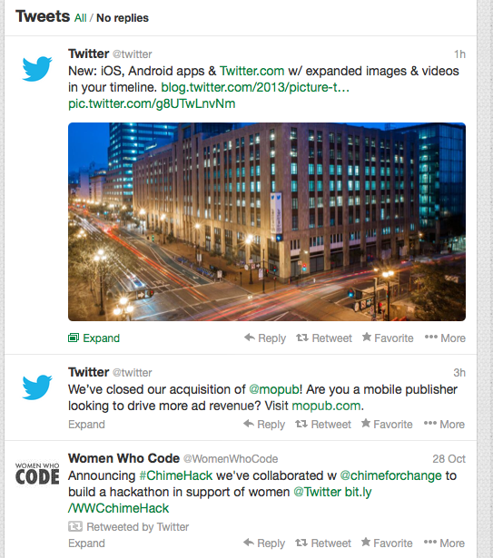 Twitter Photo Previews