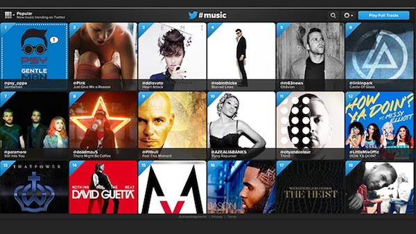 twitter music screen