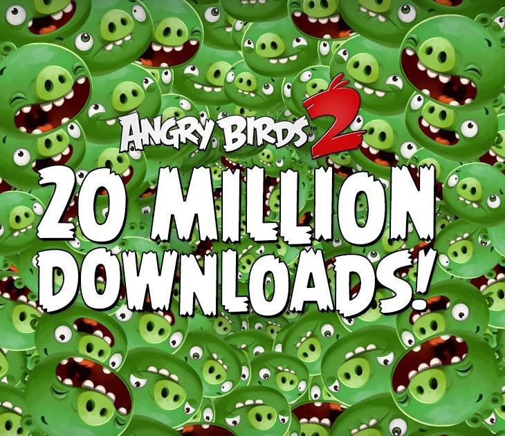 Angry Birds 2 - 20 millones de descargas