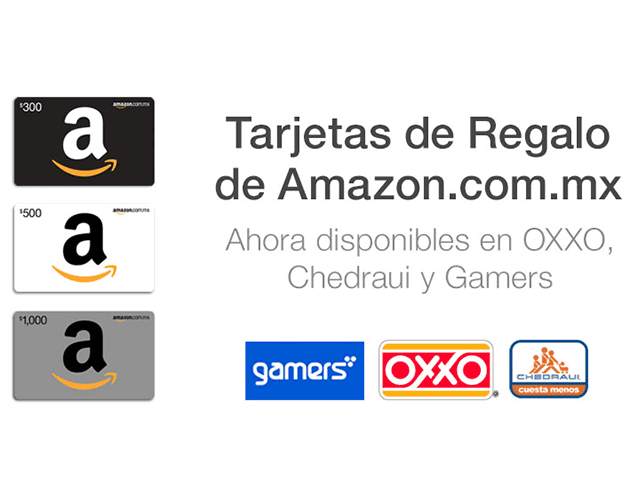 tarjetas de regalo Amazon Mexico