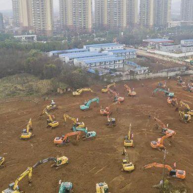 Coronavirus: China construye un hospital de 1000 camas en 10 días