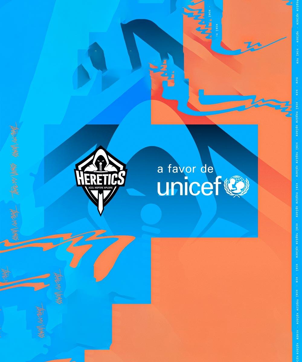 Team Heretics sella alianza con UNICEF España