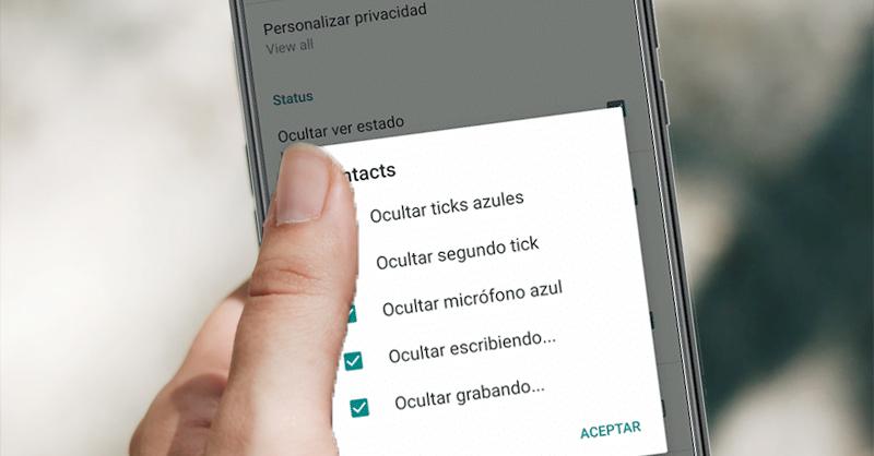 Opciones de privacidad de GB WhatsApp