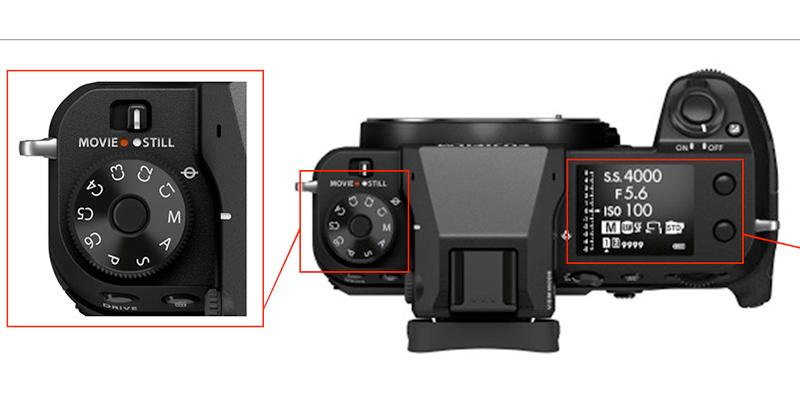 Lag GFX100S incluye los clásicos e intuitivos controles.