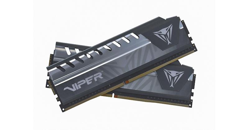 VIPER ELITE GREY 16GB (1X16GB) 2666MHz CL 16 DDR4 UDIMM (Negro / Gris)