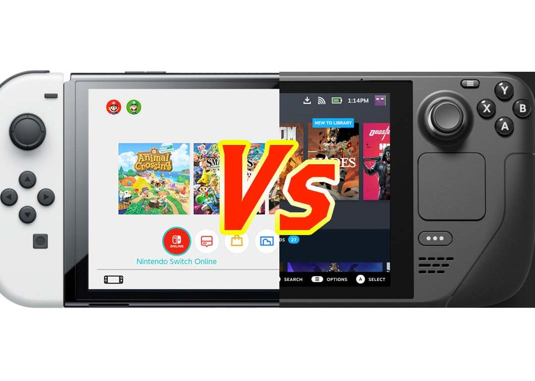 Steam Deck Vs Nintendo Switch OLED